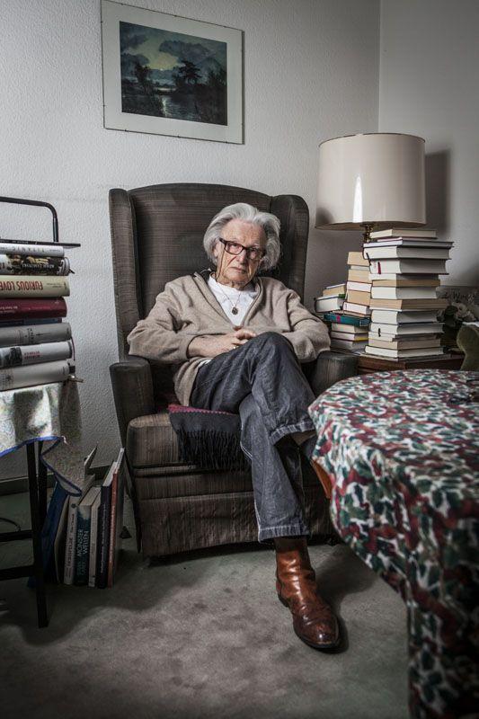 Ralph Giordano, 05.04.2012, Koeln, Homestory