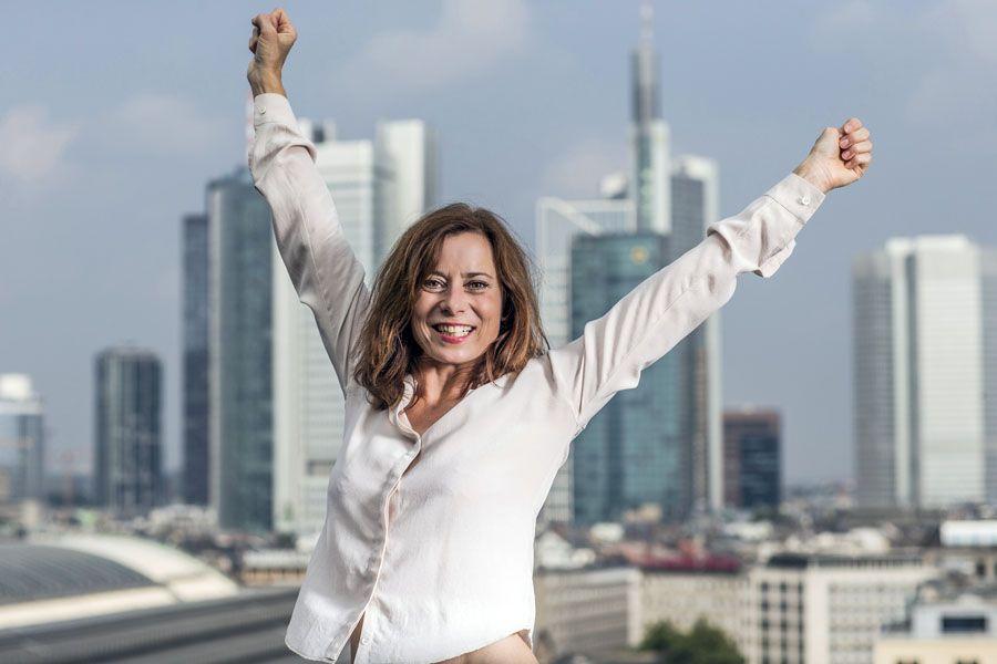Inka Friedrich, 05.09.2014, Schauspielerin, Shooting in Frankfurt am Main,
