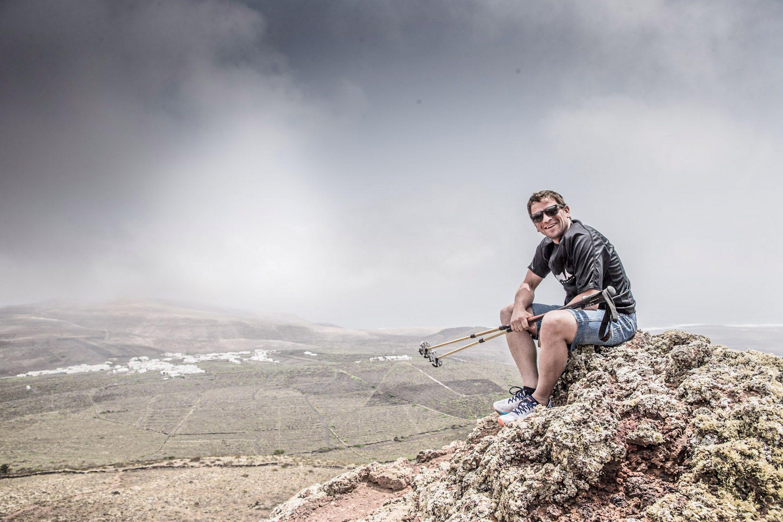 Matthias at Monte Corona / Lanzarote